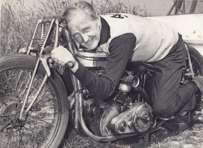 Burt Munro on Bike