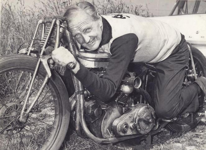 Burt Munro on Bike